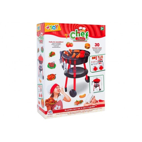 Barbecue con accessori 30 pz