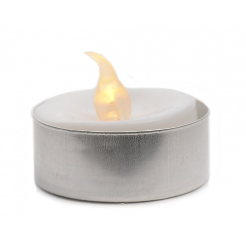 Tealight led dia 3,7x2,7 1l bianco p1