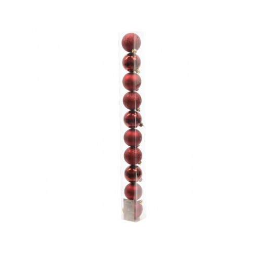 10 palle in tubo 60 mm  bordeaux  020173